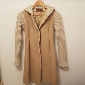 Vintage beige trench with hood